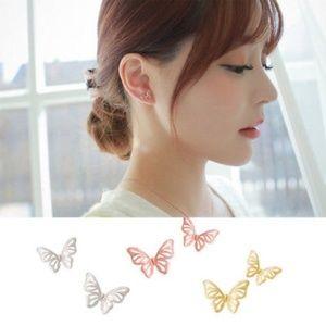 🎉2xHP🎉 Rose Gold Butterfly Stud Earrings